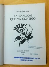 La Cancion que va Contigo por Manuel Joglar Cacho  Puerto Rico 1967