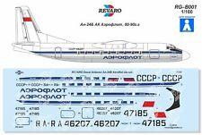 Revaro Decal An-24 Aeroflot classic Veb Plasticart 1/100