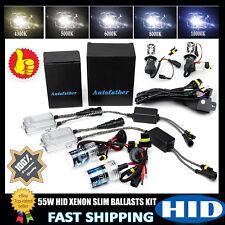 55W HID Xenon Car Conversion KIT DRL Headlight Hi/Lo Beam Slim Ballast All Color