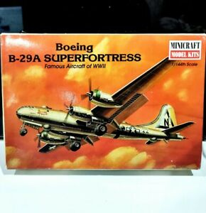 Minicraft 1/144 scale USAF Boeing B-29 Superfortress Model Plastic Air Plane Kit