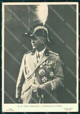Militari Maresciallo D'Italia Badoglio Foto RETRO BIANCO FG cartolina XF7384