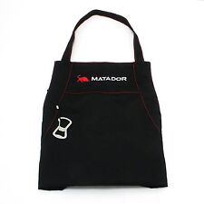 Matador LARGE BBQ APRON Adjustable Neck,Machine Washable,BLACK Cotton *AUS Brand