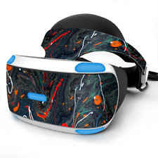 Skin Wrap for Sony Playstation PSVR Headset Paint Splatter Swirls
