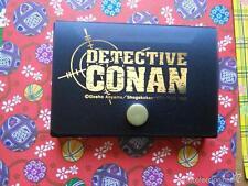 meitantei conan detective conan  manga anime shojo tarjetero con 5 tarjetas