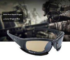 Daisy Tactical Army X7 Glasses & Goggles 4 lens Bulletproof for Hunting airsoft