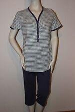 "Triumph Pyjama  ""Lasting Summer PK 03"" Gr.38 gestreift blau Hose lang Loungewear"