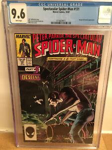 SPECTACULAR SPIDER-MAN 131 - 1987 - CGC 9.6 WHITE - Kraven Vermin