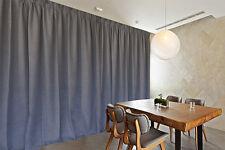 Large Linen Fabric Blockout Curtains 534x230cm Pinch Pleat 2 Panels 30 Hooks