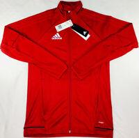 New adidas Tiro 17 Red White Training Full Zip Jacket BQ8196 Mens Size Small