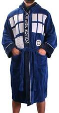 More details for official doctor who dr tardis mens luxurious soft dressing gown bathrobe robe *