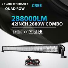 "42"" 2880W Quad-Row CREE LED Light Bar Offroad  For Polaris RZR Sportsman ATV UTV"