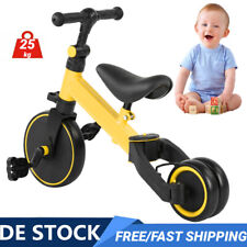 2in1 Kinder Dreirad  Kinderlaufrad Lernlaufrad Fahrrad Balance Rad 25kg 1-3 Jahr