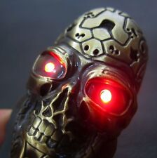 Gold Skull USB Rechargeable Electric Lighter Windproof for Terminator T800