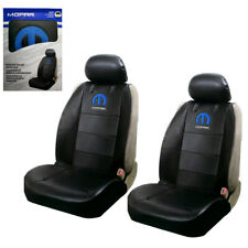 New Blue Mopar Logo Synthetic Leather Sideless Car Truck Front Seat Covers Set