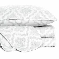 Cynthia Rowley White Gray Damask Medallion Full Queen Quilt Set 3pc New F/Q