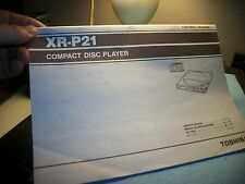 TOSHIBA XR-P21 COMPACT DISC PLAYER, Owners Manual,ORIGINAL COPY!