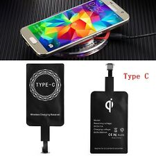 Universal Type-C Qi Wireless Receiver Charging For Sumsung S8 OnePlus 2 3 HTC 10