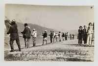 Postcard Real Photo Fisherman Casting Cninook Salmon Klamath River California