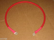 Lugged RED 2/0 SGX hi-temp positive engine power cable battery wire with rings