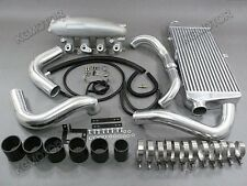 For 89-94 Nissan 240SX S13 SR20DET Intercooler kit + Intake Manifold Black Hose