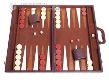 "21"" Tournament Backgammon Set - Classic Board Game - Brown"