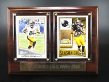 Antonio Brown Pittsburgh Steelers Wood Wall Picture 7 7/8in,Plaque Nfl Football