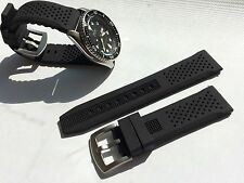 22mm Black Silicone Rubber Watch Band Strap for Seiko Diver Scuba fit 22mm LUG