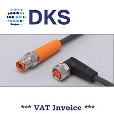 IFM  EVC284 M8/M8 Straight/Angled 3P 5m PUR Sensor Extension Cable 000320