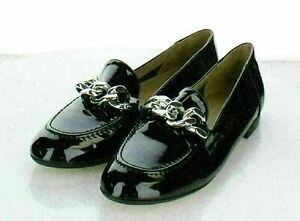 T26 NEW $178 Women's Sz 7 M Donald J Pliner Nolin Patent Leather Loafer
