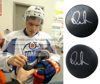 Anton Lander Edmonton Oilers Sweden Autographed Signed Ice Hockey Puck Proof COA