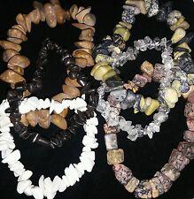 Earthtone Bracelet Beautiful gems and other stones - 6 bracelets