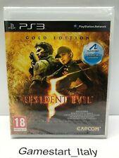 RESIDENT EVIL 5 GOLD EDITION - SONY PS3 - GIOCO NUOVO SIGILLATO PAL UK VERSION