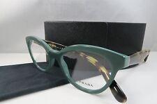 Prada VPR 11R TFO-1O1 Sea Green/Tortoise New Authentic Eyeglasses 50mm w/Case
