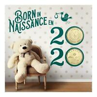 Born in 2020 Baby Gift Coin Set Canada Special Edition $1 Loonie Teddy Bear