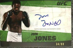 Ltd. Ed. 2010 Topps UFC Knockout Autograph JON JONES/88 #A-JJ
