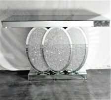 XXL Luxury Mirrored Crushed Diamond Console Hallway Table Living Room NEW