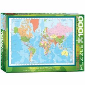 Eurographics 1000 Piece Jigsaw Puzzle - Map of the World EG60001271