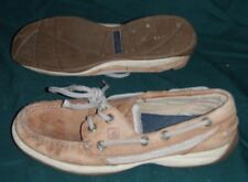 Sperry Top-Sider Intrepid Womens Size 6.5 M Used Tan Leather Loafers Boat Shoes