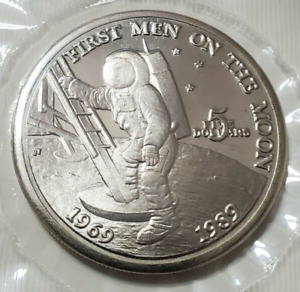 1989 MARSHALL ISLANDS 5 DOLLARS UNC 1ST MAN ON THE MOON 20th Anniversary