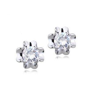 SALE: Silber Zirkonia Blumen Ohrstecker Ohrstick Earring aus 925 Sterlingsilber