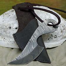 uriges neck knife Halsmesser Damaststahl 256 Lagen Mittelalter Handgeschmniedet