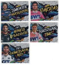 2020 Topps Chrome Formula 1 F1 Track Tags / World on Wheels Pick Your Card Set