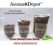 Raw Cacao / Cocoa Beans Raw Chocolate Arriba Nacional Bean 4 oz to 15 Lb