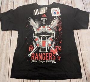 LZ Adidas Boy's Medium Texas Rangers Short Sleeve Tee T-Shirt TShirt Top NEW Y23