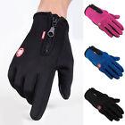 Touch Screen Windproof Waterproof Outdoor Sport Gloves Winter gloves,Black/Blue