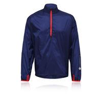 Higher State Ultra Lite Mens Blue Long Sleeve Half Zip Smock Jacket Top