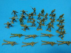 MPC Army Men Toys Lot - Green Color Figures