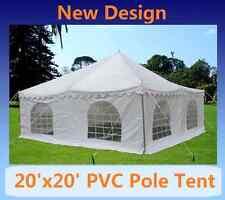 PVC Pole Tent 20'x20' - Party Wedding Tent Canopy Gazebo Shelter - White