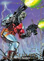 DEATHLOK / 1992 Marvel Masterpieces BASE Trading Card #28 Art by JOE JUSKO