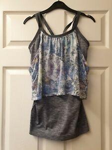 Women grey Sports Vest Top size medium